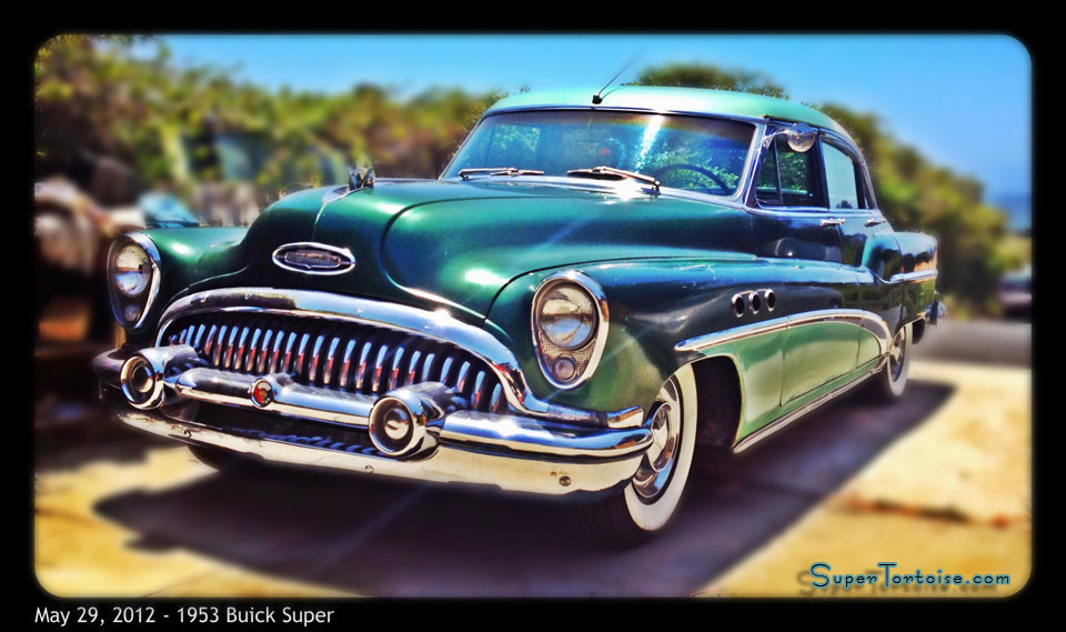 Front - THE SUPER TORTOISE - 1953 Buick Super Series 52 V8 322 Nailhead with Dynaflow - La Selva Beach, CA - Mild Custom THE SUPER TORTOISE - 1953 53 Buick Super Series 52 V8 322 Nailhead with Dynaflow Transmission Dark Green with Light Green Trim - La Selva Beach, CA - Mild Custom Restoration Project (For Sale?)