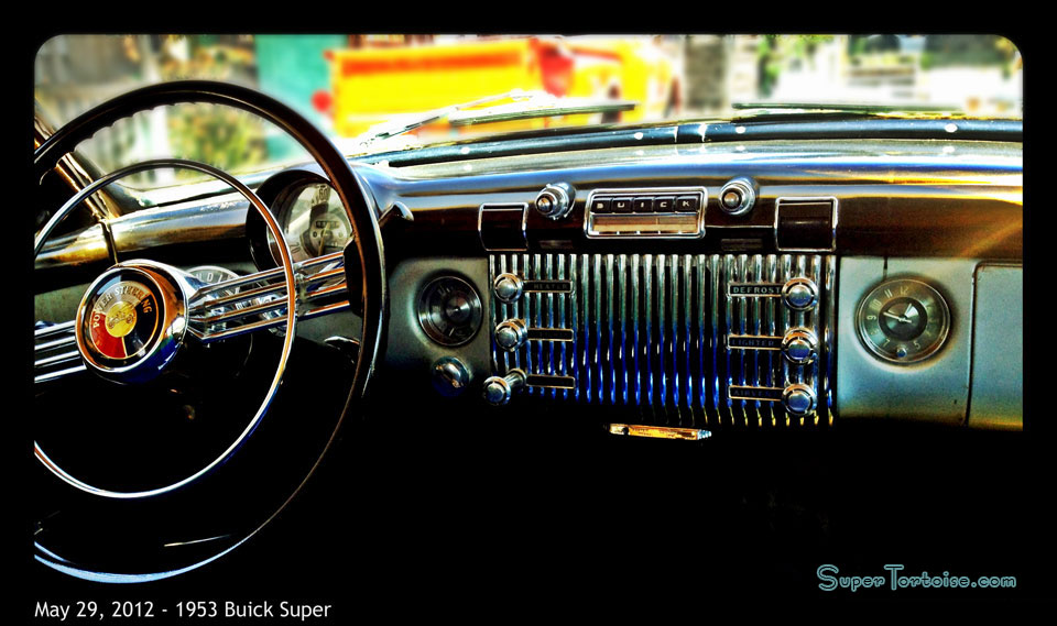 Dashboard - THE SUPER TORTOISE - 1953 53 Buick Super Series 52 V8 322 Nailhead with Dynaflow Transmission Dark Green with Light Green Trim - La Selva Beach, CA - Mild Custom Restoration Project (For Sale?)